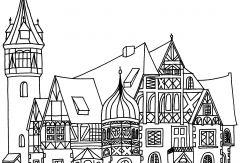 Zeichnung des Lister Turm